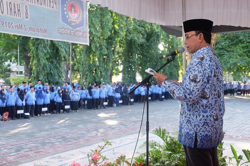 Pemerintah Kota Mataram Peringati Hari Pendidikan Nasional yang di rangkai dengan Hari Otonomi Daerah (OTDA) ke XXIII Tahun 2019