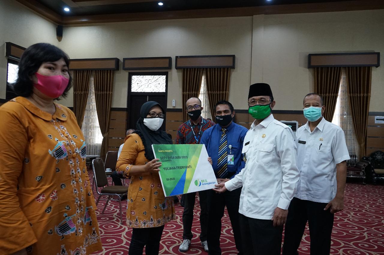 Peresmian Kader Terpadu Kota Matatam Sebagai Anggota BPJamsostek