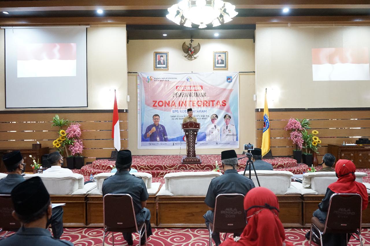 Walikota Mataram Hadiri Pencanangan Wilayah Bebas Korupsi dan Wilayah Birokrasi Bersih dan Melayani (WBBM) BPS Kota Mataram