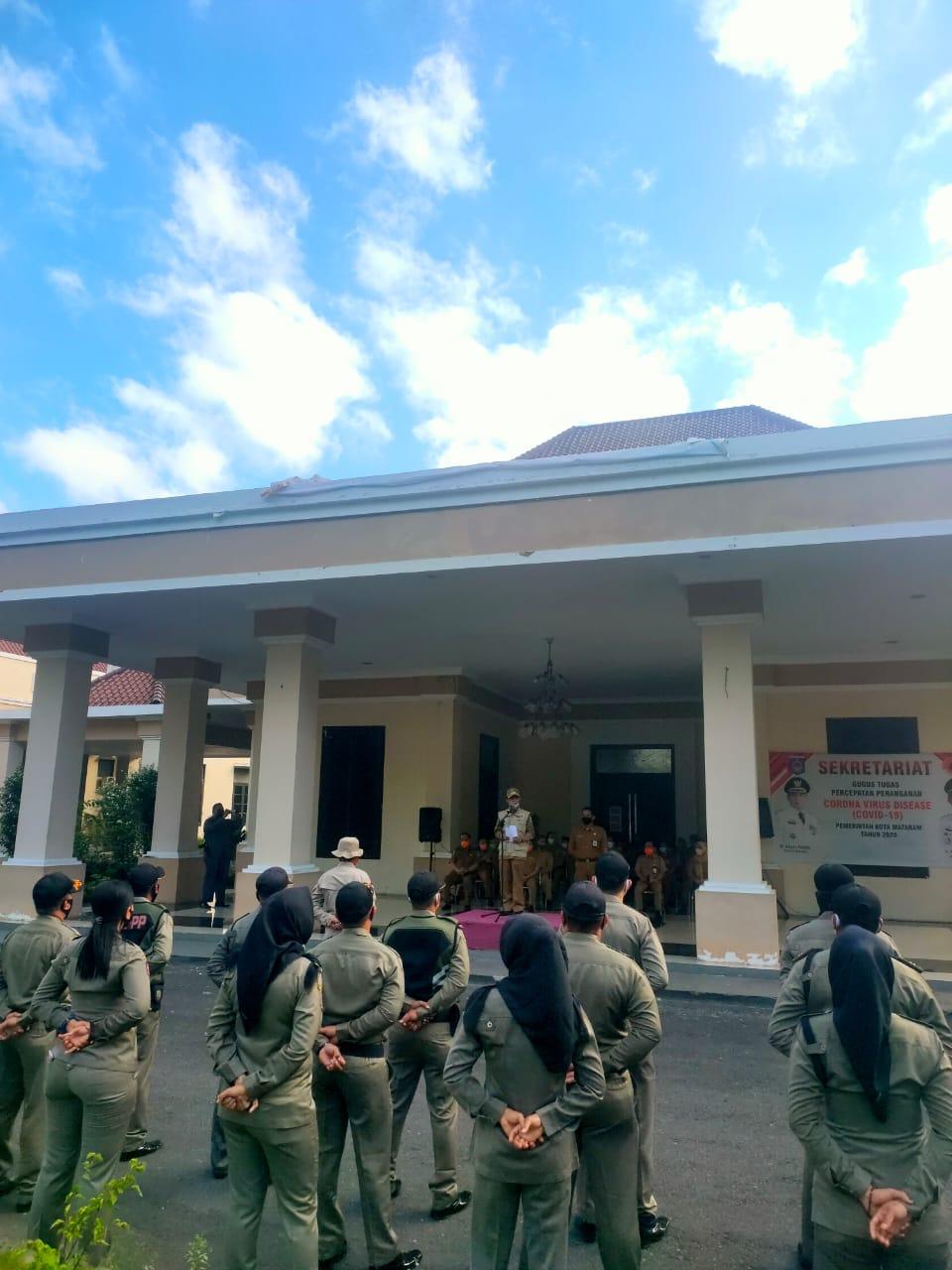 Walikota Pimpin Apel Siaga Gugus Tugas Percepatan Penanganan Covid-19 Kota Mataram