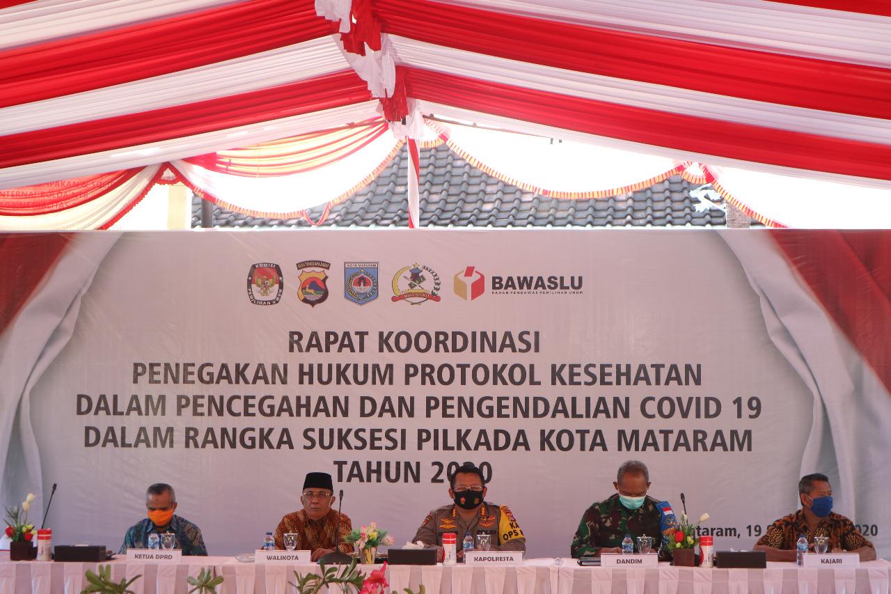 Walikota Pimpin Rakor Pencegahan dan Pengendalian Covid 19 Dalam Rangka Suksesi Pilkada Kota Mataram 2020