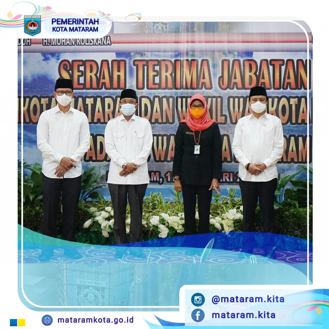 Serah Terima Jabatan Wali Kota Mataram Periode 2016-2021 ke PLH Wali Kota Mataram