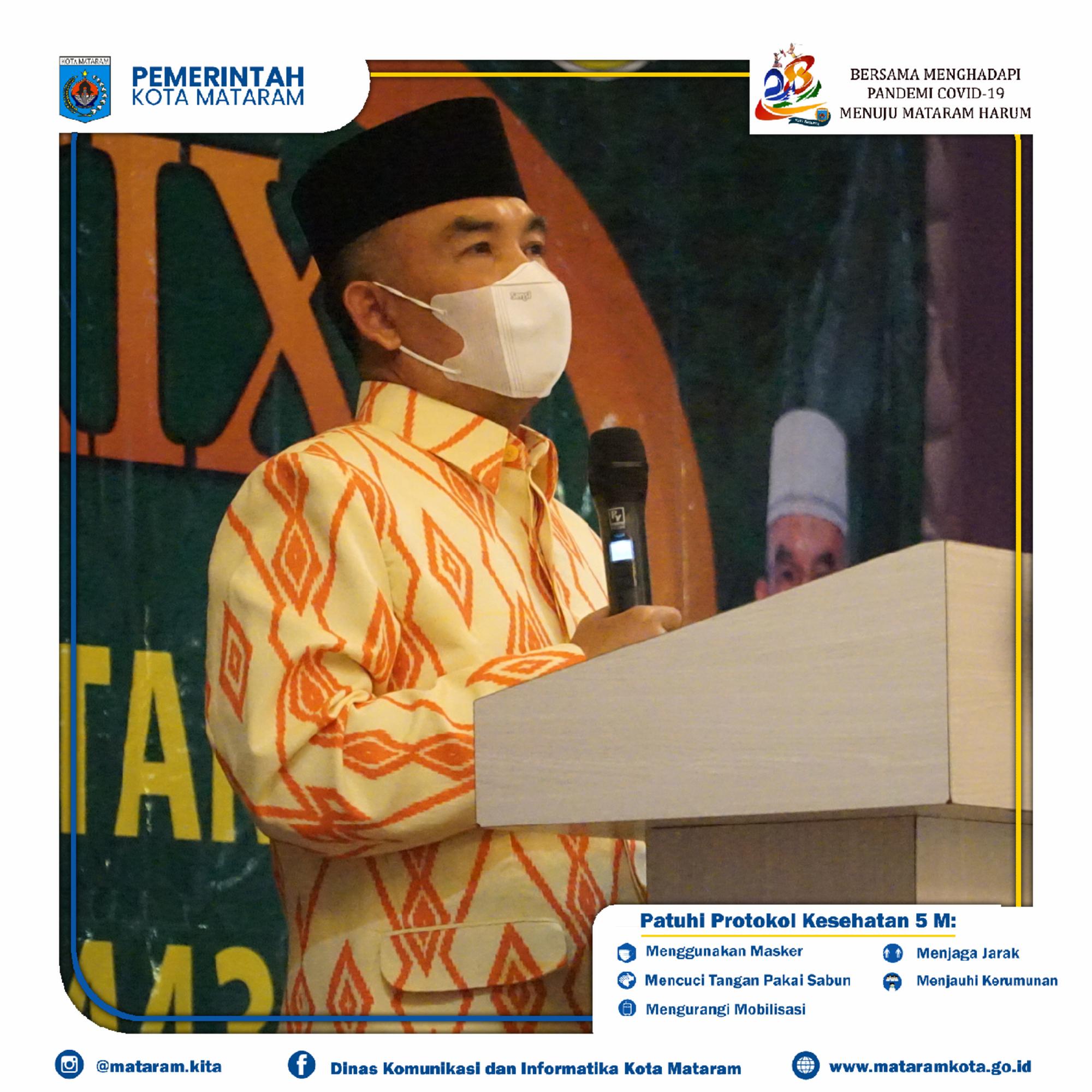 Penutupan Musabaqah Tilawatil Qur'an (MTQ) XXIX Tingkat Kota Mataram Tahun 2021 M/1443 H