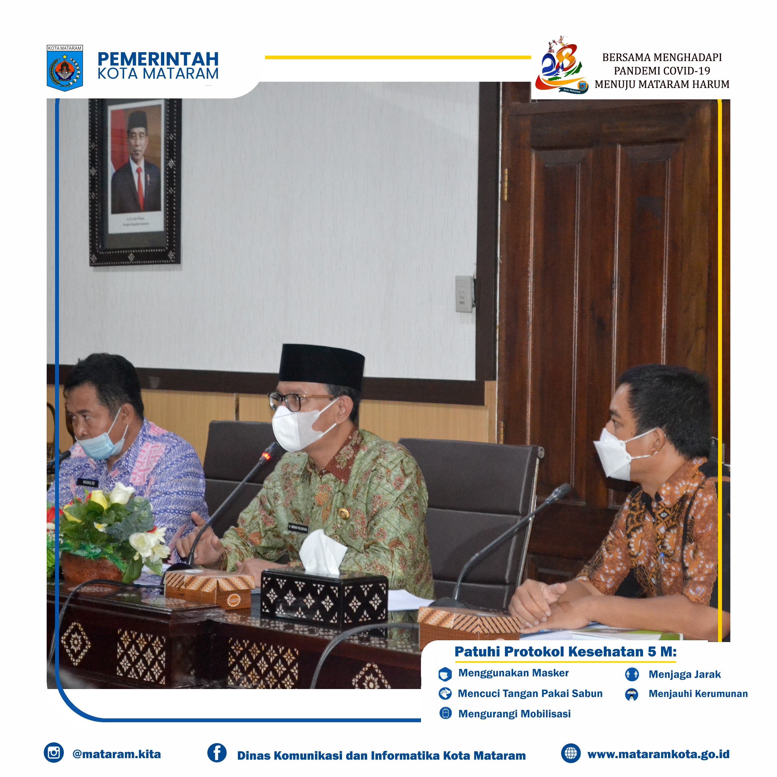 Audiensi Terkait Deklarasi ODF (Open Defecation Free) dan Persiapan Kota Mataram dalam STBM Award