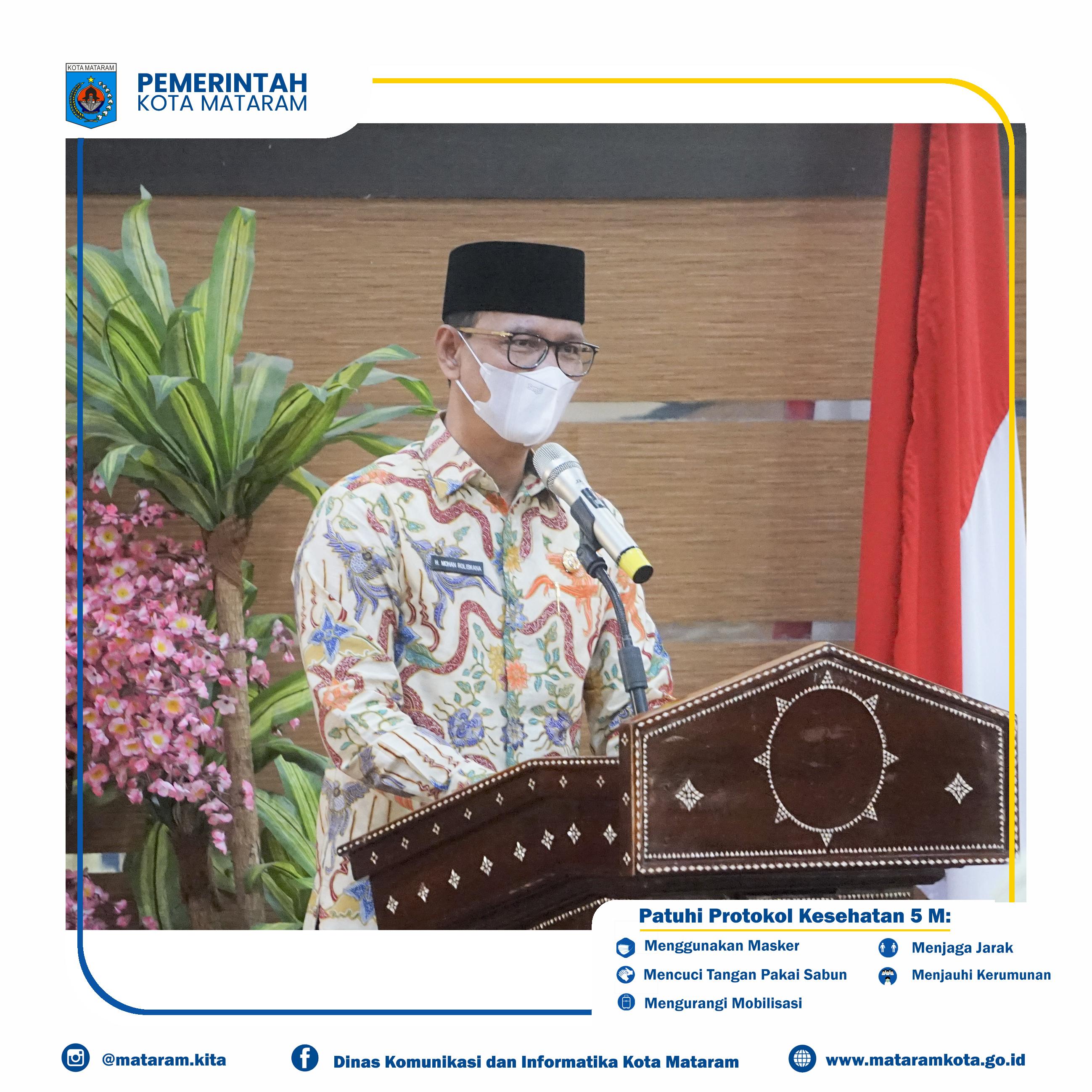Wali Kota Mataram Buka Rapat Kerja GOW Kota Mataram Tahun 2021