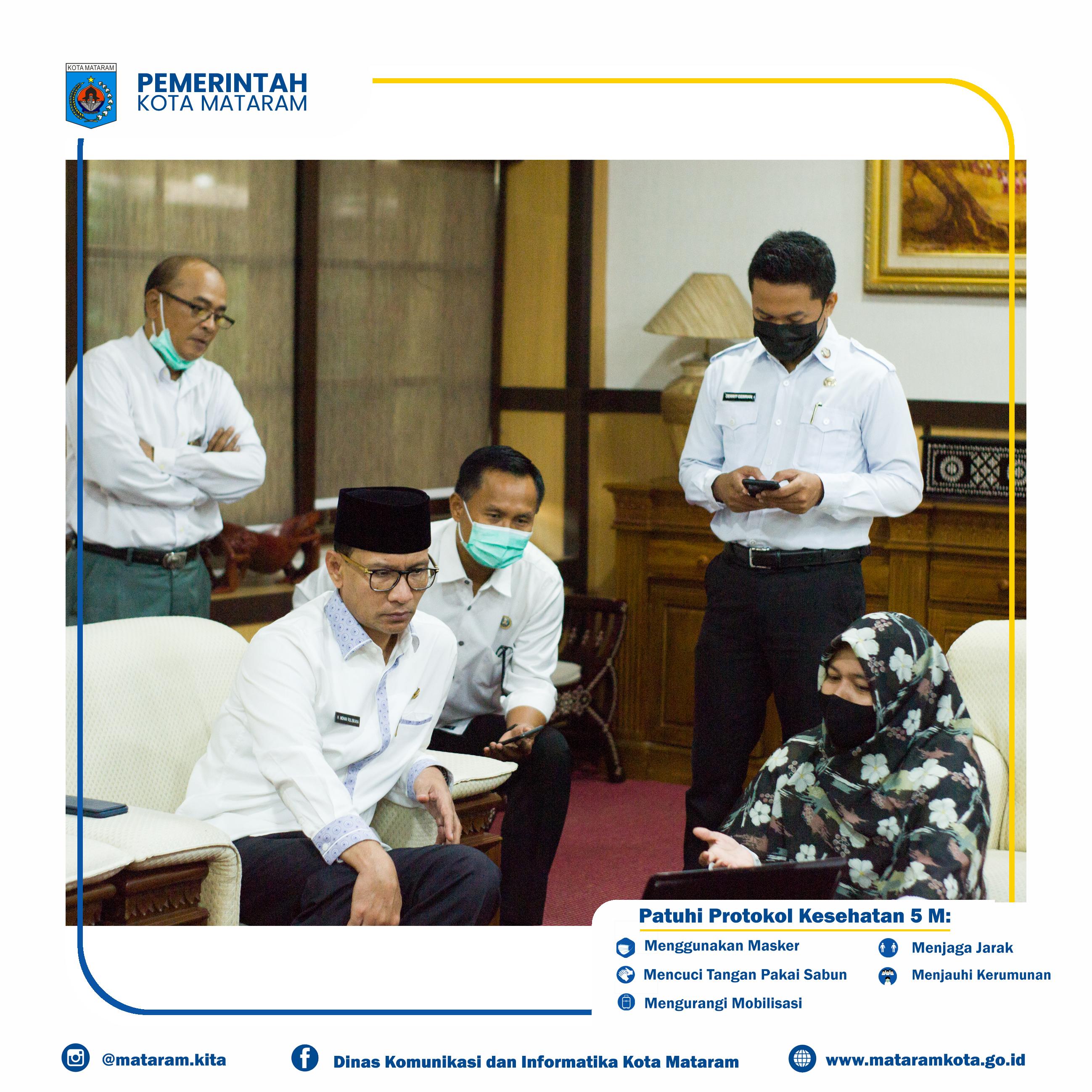 Wali Kota berkomitmen untuk melaksanakan transformasi birokrasi digital dalam rangka mewujudkan Smart Government di lingkup Pemerintah Kota Mataram.