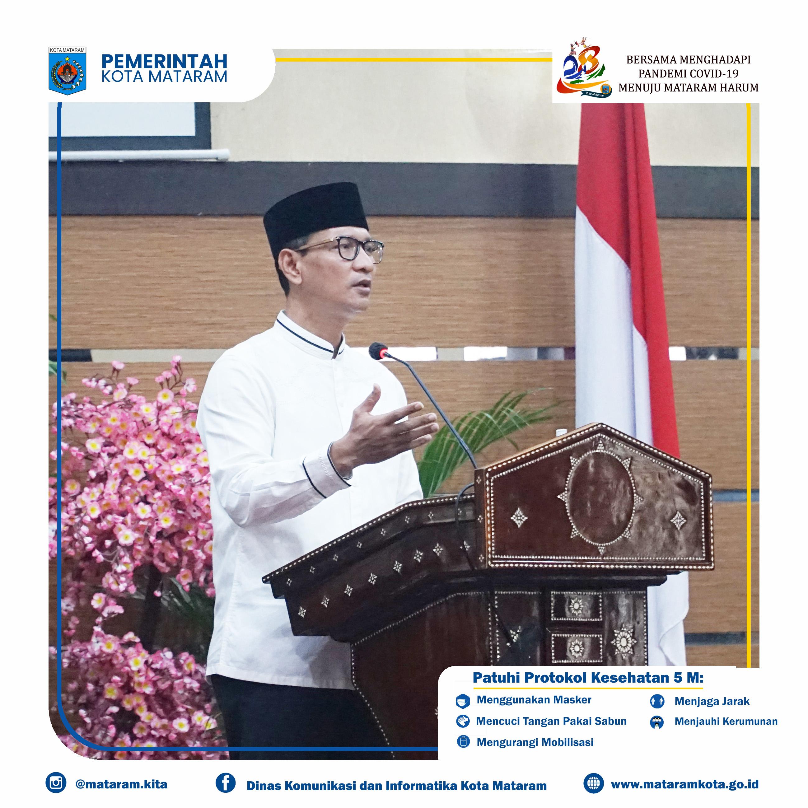 Penyerahan Stimulan Pendamping Ekonomi Wilayah Terdampak Bencana Kota Mataram Provinsi NTB.