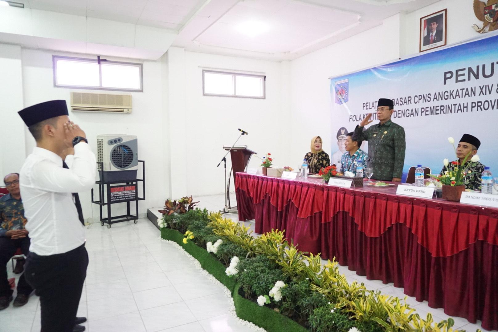 Penutupan Pelatihan Dasar CPNS Angkatan XIV dan XVII Pemerintah Kota Mataram