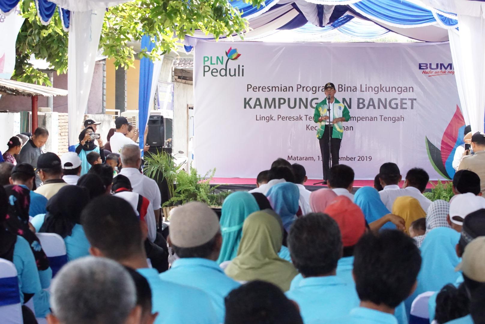 Peresmian Program Bina Lingkungan Kampung PLN Banget