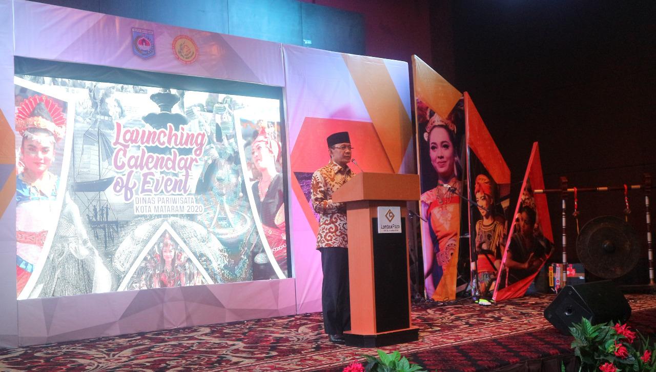 Wali Kota Mataram Membuka Launching Calendar Of Event