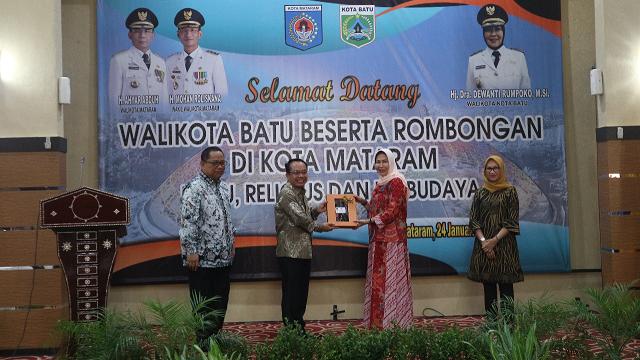 Kunjungan Kerja Walikota Batu Beserta Rombongan di Kota Mataram
