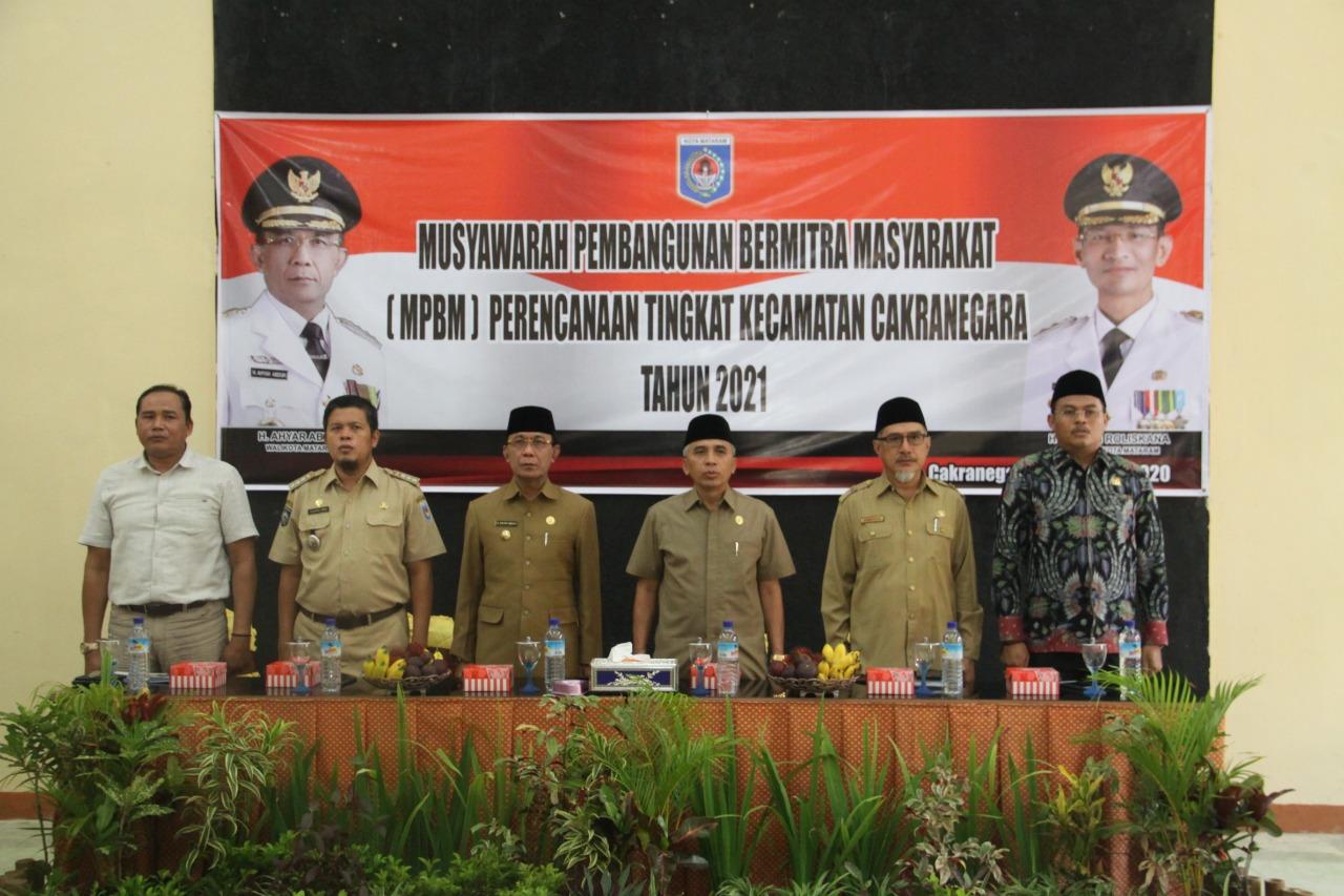 Wali Kota Mataram Membuka MPBM Kecamatan Cakranegara