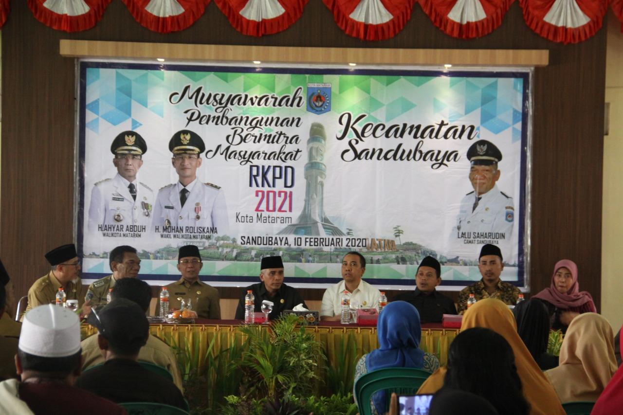 Wali Kota Mataram Membuka MPBM Kecamatan Sandubaya