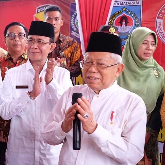 Wali Kota Mataram mendampingi Wapres kunjungi RTG