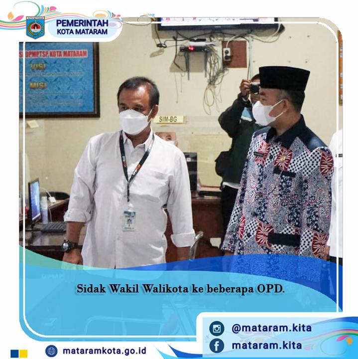Wakil Wali Kota Mataram Kunjungi Kantor OPD Se Kota Mataram