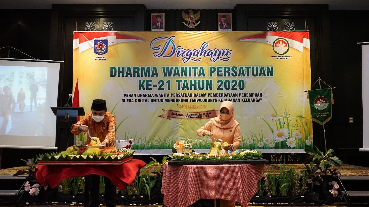 Peringatan Hari Ulang Tahun Dharma Wanita Persatuan Kota Mataram Ke-21