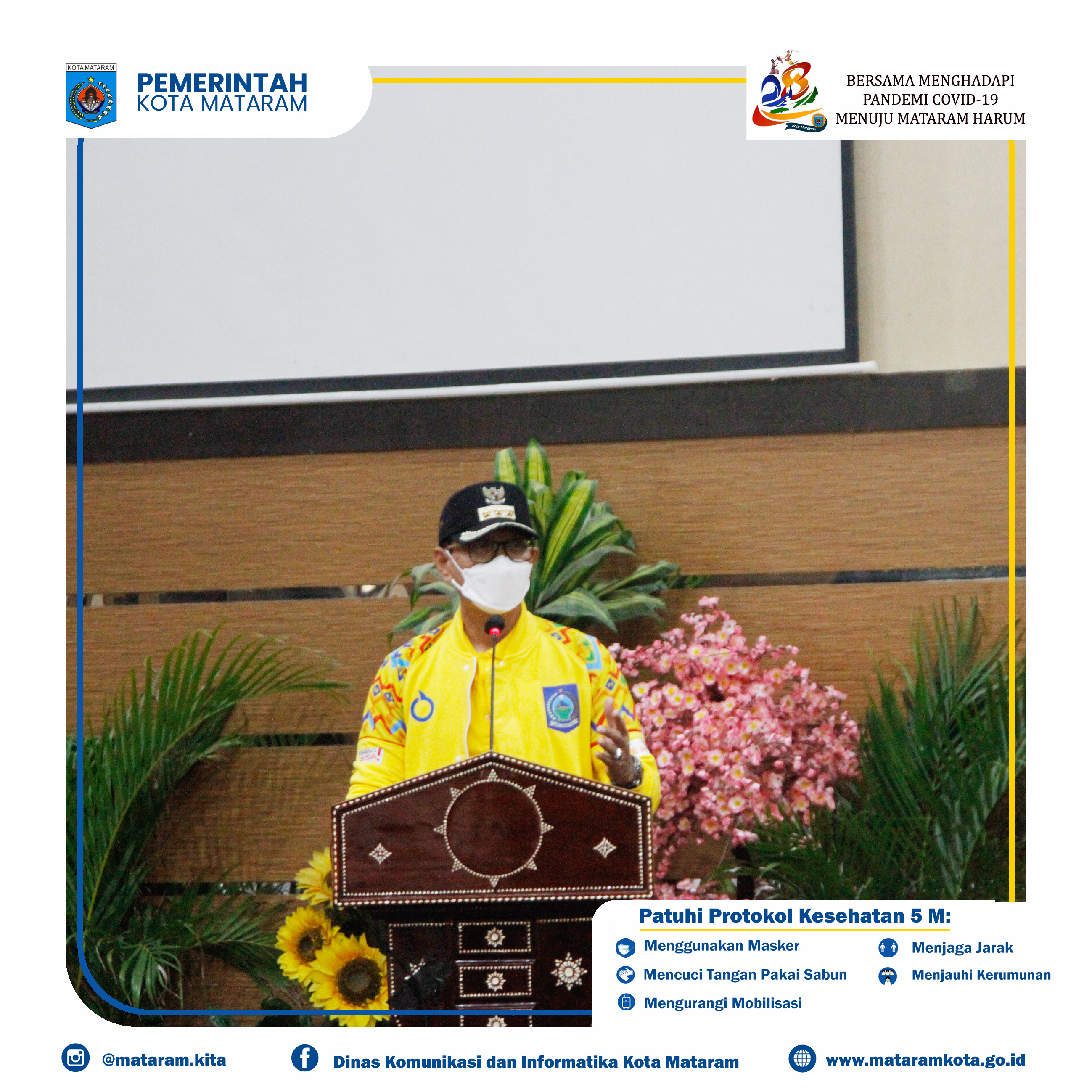 Pelepasan Atlet dan Pelatih PON XX Papua asal Kota Mataram