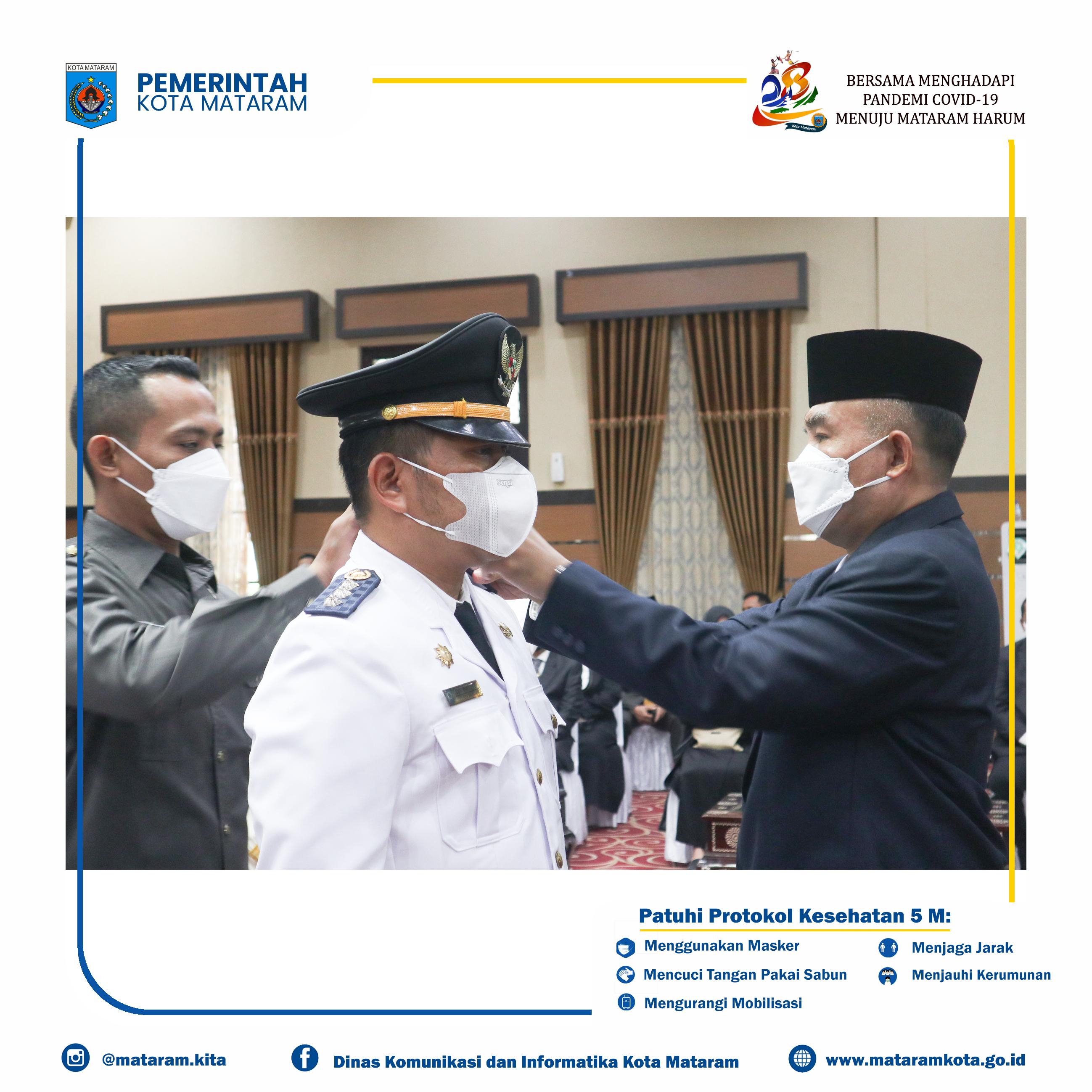 Wakil Wali Kota Mataram TGH. Mujiburrahman Lantik Pejabat Struktural Pemkot Mataram