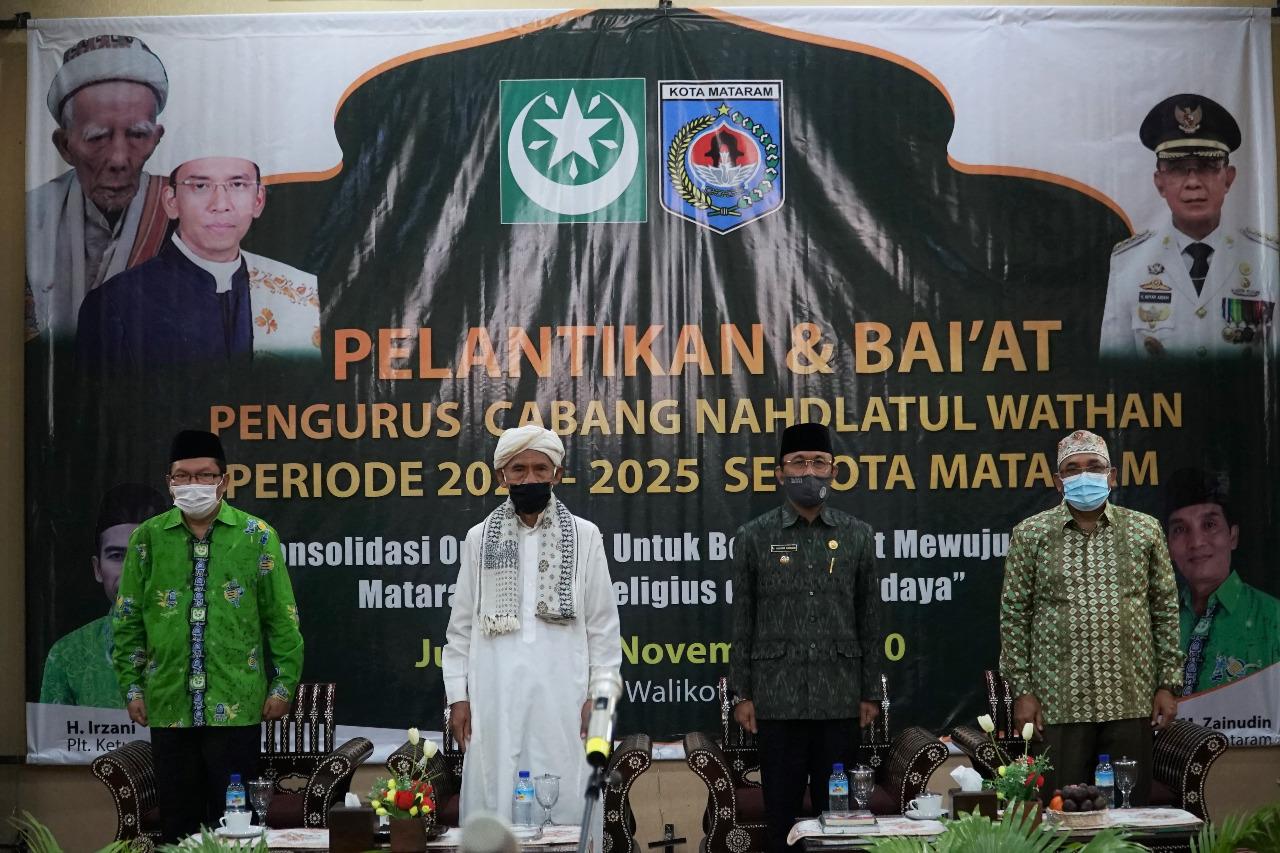 Wali Kota Hadiri Pelantikan NW Cabang Kota Mataram