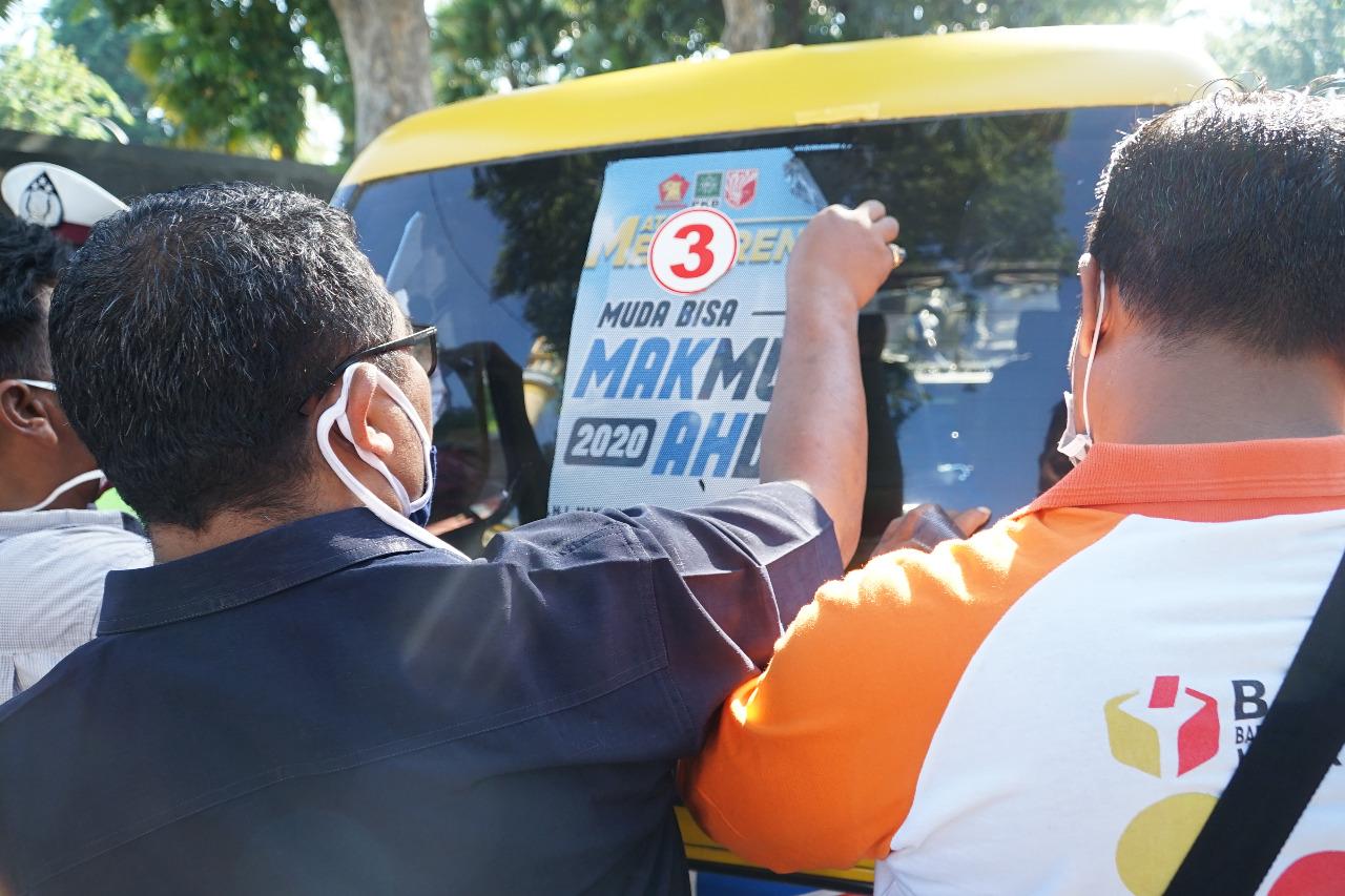 Penertiban Alat Peraga Kampanye Oleh Tim Terpadu Kota Mataram