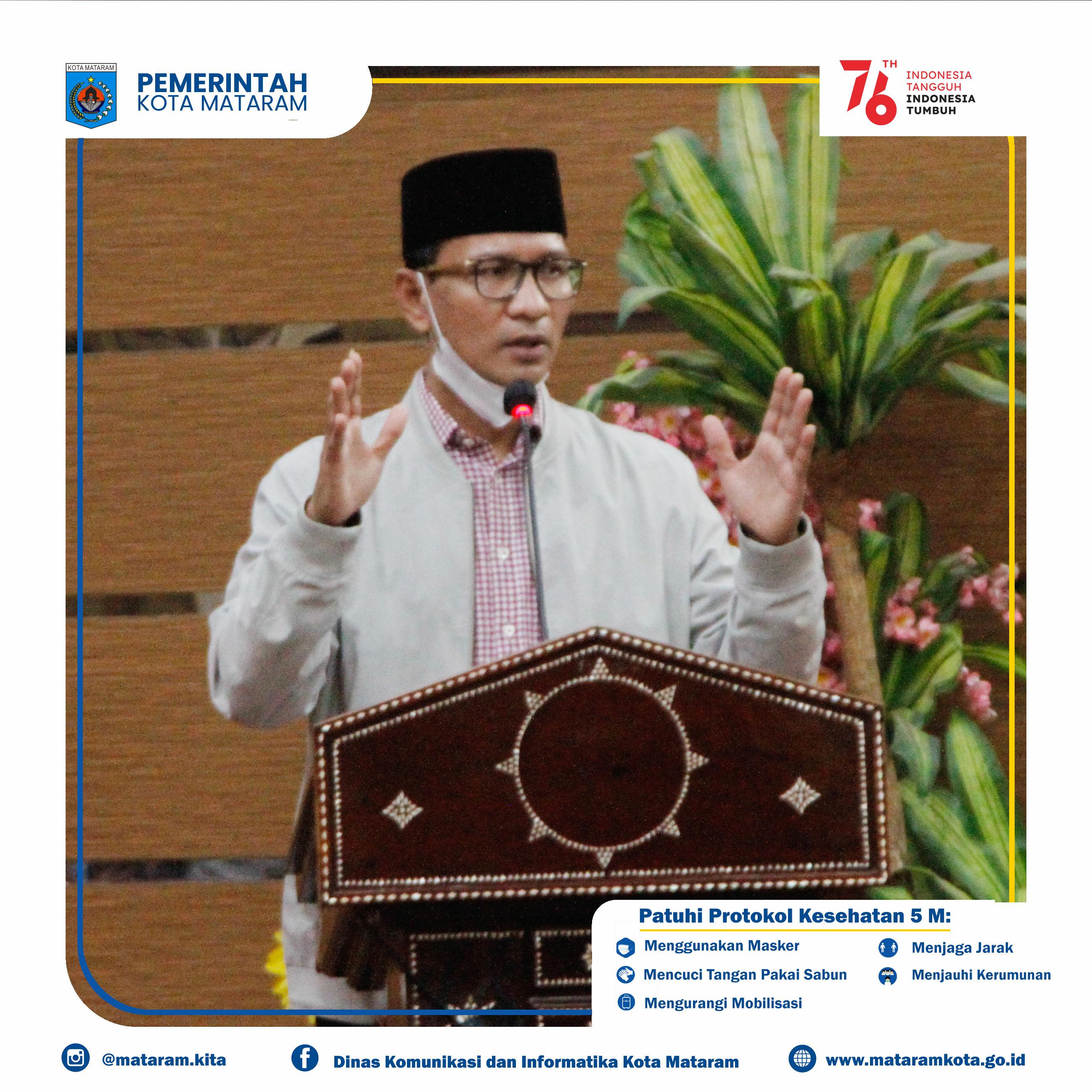 Wali Kota Mataram H. Mohan Roliskana pimpin rapat koordinasi Gugus Tugas Pencegahan Penanganan Covid-19 Kota Mataram