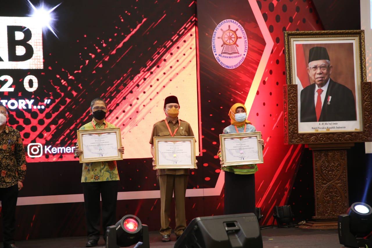 Kota Mataram Dapat Penghargaan SAKIP Awards Tahun 2020