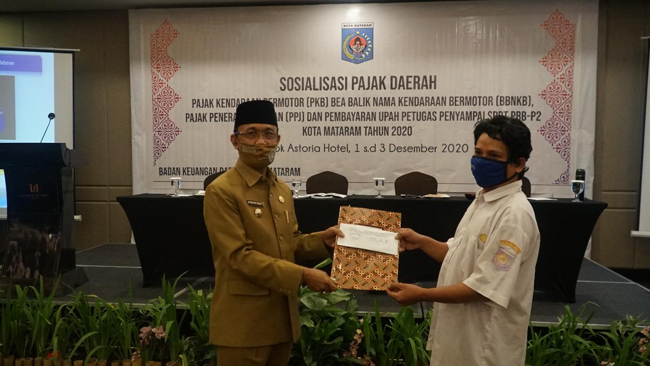 Sosialisasi Pajak Daerah dan Pembayaran Jasa Petugas Penyampaian SPT PBB-P2 Kota Mataram