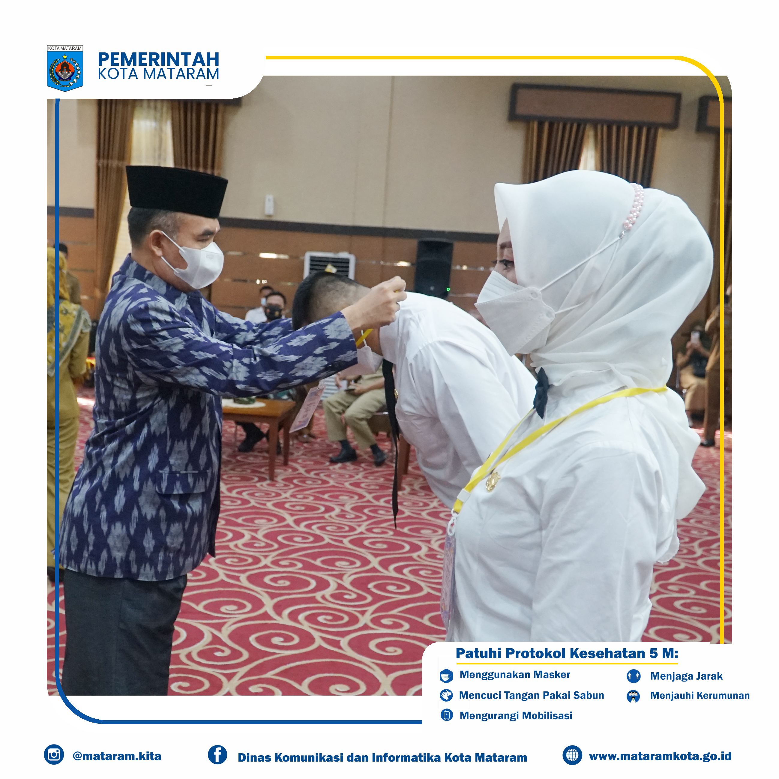 Pembukaan Pelatihan Dasar (Latsar) Calon Pegawai Negeri sipil Pemerintah Kota Mataram Pola Kerja Sama dengan Badan Pengembangan Sumber Daya Manusia Daerah Provinsi NTB Tahun 2021 Menggunakan Metode Pe
