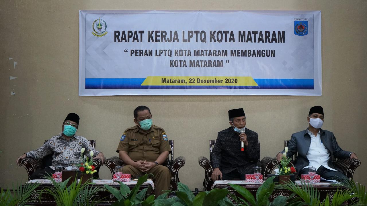 Asisten II Buka Rapat Kerja Lembaga Pengembangan Tilawatil Qur'an (LPTQ) Kota Mataram